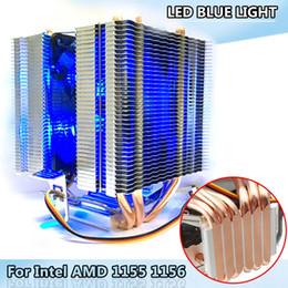 2019 alta luce di calore LED Blue Light CPU Fan 6X Heat Pipe per Intel LAG 1155 1156 AMD Socket AM3 / AM2 Raffreddamento computer di alta qualità Ventola di raffreddamento per CPU sconti alta luce di calore