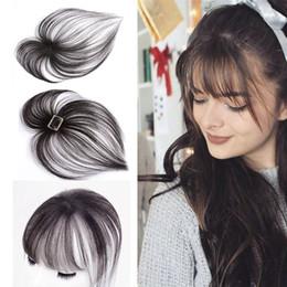Deutschland 3D Air Bangs mit zwei langen Seiten für Frauen Handmade Weben Invisible Seamless Neat Bangs in Front Hairpiece Fashion Frisur Versorgung