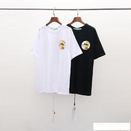 Euro markenkleidung online-100% Rabatt auf 2019 Sommer-Marken-Designer Herren Bekleidung T-Shirt-Druck-Mode-Tees EURO Größe S-XL ow013