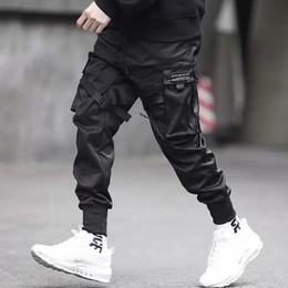 pop de poche Promotion 2019 Hommes Multi-poche Harem Hip Pop Pantalon Pantalon Streetwear Pantalon De Jogging Hombre Mâle Casual Mode Pantalon cargo Hommes