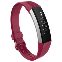 Reloj de pulsera de pc online-100% de alta calidad 2016 nuevo de silicona banda reloj de reemplazo de la correa de cierre Para Fitbit Alta inteligente reloj pulsera HR 12 100 unidades de color