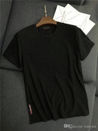 Chalecos de manga corta de los hombres online-19ss Nueva Llegada PRAD Hombres París Amantes Camisetas de Algodón de Impresión de Manga Corta Camiseta de Verano Chaleco Transpirable Streetwear Camiseta Al Aire Libre