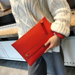 Neue Mode Frauen Umschlag Handtasche Pu-leder Weibliche Tageskupplungen Rot Frauen Handtasche Handgelenk Kupplung Geldbörse Abendtaschen Taschen Y19061301 von Fabrikanten