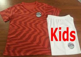 Camisas de egipto online-Camisetas de fútbol de Egypt para niños 10 M. SALAH A. HEGAZI M.ELNENY KAHRABA RAMADAN Personalizar Inicio Rojo 2019 2020 Juventud Infantil Niño Camiseta de fútbol