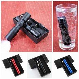 mejor mosquetón para llaves Rebajas 4 colores linterna de aluminio mini linterna impermeable 9.5 * 2cm linterna LED portátil de camping al aire libre de la antorcha llavero regalo ZZA1795