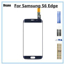 2019 digitalizador de tela de vidro s6 5.1 polegadas touch screen sensor para samsung para galaxy s6 edge g925 g925f g9250 digitador da tela de toque frente lente de vidro com ferramentas digitalizador de tela de vidro s6 barato