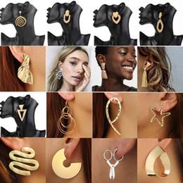2019 orecchino maxi Orecchini di dichiarazione alla moda per le donne Moda Maxi Drop Ciondola gli orecchini per i regali di partito femminile Gioielli Brincos sconti orecchino maxi