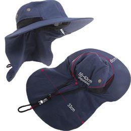 sombrero de vaquero de paja de papel Rebajas 360 grados sombrero al aire libre unisex Hombres Mujeres Sun del verano del sombrero masculino Pescador impermeable UV Pesca Cap hombre del verano Sombrero femenino