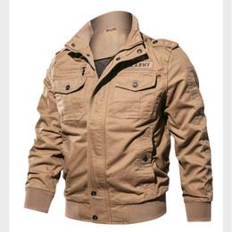 Cotone lavato Giacchette Abbigliamento da esterno Flight Pilot Bomber Jacket Cowboy Uomini Donne Windbreaker Baseball Wintercoat Mens da uomini di giacca sportiva di bambù fornitori