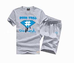 Shirts tecidos de calças on-line-S-5xl novo Mens swag Esporte casual dos homens de Manga Curta de Malha tecidos hip hop T-Shirt e calças LOGOTIPO