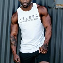 esportes 2019 dos homens colete treinamento muscular sem mangas na Europa e América marca maré de fitness colete masculino de