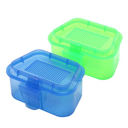 caixa de isca de verme Desconto 1 Pcs de Alta Qualidade Respirável Caixa De Armazenamento De Isca De Pesca De Plástico Ao Vivo Minhoca Worms Isca Caixa de Recipiente