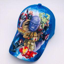 Trollmütze online-Kinder Hüte Baseballmützen 28 Cartoon Stile Kinder Marvel Avengers Troll Spiderman Caps Baumwolle Sonnenhüte DHL