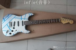 2019 fare chitarre Chitarra elettrica fatta a mano pura della nuova chitarra elettrica d'argento del modello della banda di trasporto libero sconti fare chitarre