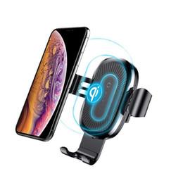 telefonhalterung halter Rabatt Baseus Autotelefon Drahtlose Ladegerät Universal Air Vent Magnetische Telefon Auto Halterung Für iPhone X 8 8 Plus Samsung S9 S8 Plus