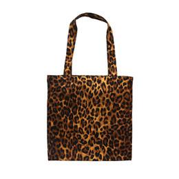 57432183f Buena calidad Vintage Leopard Impreso Lienzo Bolso de Hombro de Moda  Femenina Señora Tote Bolso de Gran Capacidad Wommen Bolsa de Compras