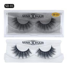 Navio de tira on-line-Frete Grátis ePacket New 3D Mink Cílios Sujo Olho Extensão cílios Sexy Pestana Full Strip Eye Lashes por fibra química