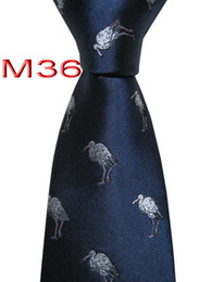 Мужская животная связь онлайн-Классическая JACQUARD ТКАНЫХ РУЧНОГО Mens Животные Pattern Navy / синий цвет Мужчины Галстук M36