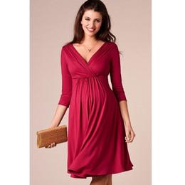 ropa de maternidad vestidos de noche Rebajas ENXI mujeres embarazadas de Navidad vestido de fiesta por la noche elegante vestido de dama de verano ropa de maternidad más tamaño con cuello en V vestidos de maternidad