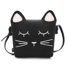 Bolso de gato negro online-bolso de niño bolso de gato bolso lindo Bolso lindo de las muchachas del gato Bolso de los niños del bolso del bolso de los niños Bolsos de los niños regalo para la muchacha