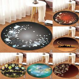 2019 alfombra de baño redonda 2019 hermosa Lasser Bairam Pattern Round Area Rug FLeece Kitchen Bathroom 80cm artículos prácticos y prácticos para el hogar alfombra de baño redonda baratos