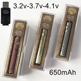 stylo e cigarette Promotion Brassard en laiton Batterie 650mAh Or Bois Tension Variable Batterie Préchauffer Batteries 510 Fil Batterie Vape Pen Pour Vaporisateur D'huile Épaisse