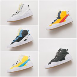 zapatillas de nieve Rebajas 2019 Las zapatillas de baloncesto deportivas más calientes Blazer Mid High Leisure sacai Blanco Negro Legend Blue con las zapatillas de running Dunk Snow Beach