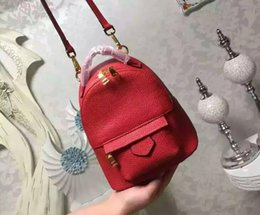 Bolsa de ondinhas de água on-line-2019 água ripple red mini mulheres saco famoso designers bolsas mochila ombro das mulheres saco cadeia mochilas imitação de farelo