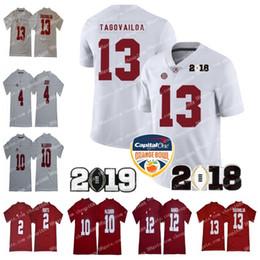 2019 Alabama Crimson Tide 13 Tua Tagovailoa Orange Bowl 2 Jalen duele 4 Jerry Jeudy 10 AJ McCarron 12 Joe Namath Championship Jersey desde fabricantes