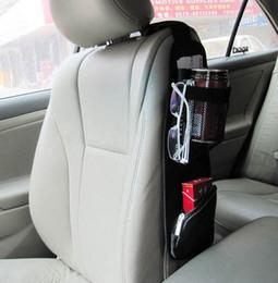 Saco de armazenamento lateral do assento de carro on-line-Assento de carro Auto Side bolso de armazenamento Backseat Organizer Bag Preto Titular de suspensão frete grátis