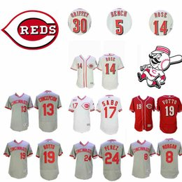 Erkek Cincinnati Johnny Tezgah Kırmızılar Joe Morgan Dave Concepcion Chris Sabo Joey Votto Oyunda Tony Griffey Jr Pete Gül Barry Larkin Formaları nereden