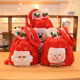Canada Décoration de Noël Flanelle Bonbons Sac À Main Maternelle Rouge Centre Commercial Noël Sac De Pomme Cadeau Mignon Fournitures cheap red flannel bag Offre