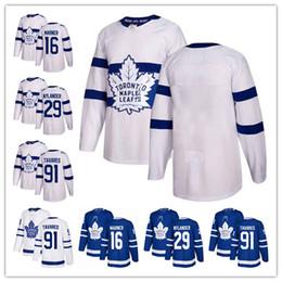 billige authentische nhl hockey trikots Rabatt Auston Matthews Toronto Maple Leafs Blue Home 2018 Stadium Series White Road Qualitäts-Mann-Mitchell Marner Hockey Jersey nähte Jersey