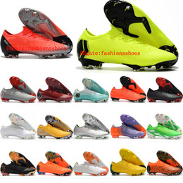 3add2b7aa96 2019 mens soccer cleats Mercurial Vapor Fury VII Elite SE FG soccer shoes  Mercurial Superfly CR7 neymar football boots socks ACC black