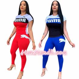 W8211 calças femininas terno Europa e nos Estados Unidos 19 modelos de explosão moda feminina esportes casuais terno de manga curta duas peças 81025 de Fornecedores de hoodies americanos do hóquei em gelo