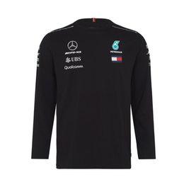 auto camiseta Desconto F1 novo Mercedes-Benz AMG Racing Team terno T-shirt gola de mangas curtas roupas camisa auto trabalho off-road de golfe T-shirt de mangas compridas
