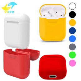 Bolsas para iphone on-line-Para a apple airpods capa de silicone suave ultra fino protetor capa manga bolsa para air pods caso fone de ouvido