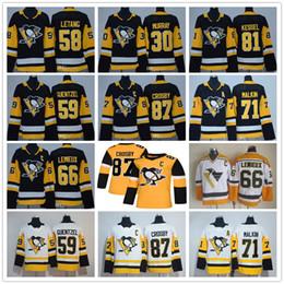 Argentina Juventud masculina Señora Pittsburgh Penguins 87 Sidney Crosby Mario Lemieux Evgeni Malkin Letang Phil Kessel Guentzel Matt Murray Niños camisetas de hockey cheap penguin jerseys Suministro