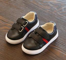 Chaussures coréennes taille en Ligne-Taille us 8.5-3.5 Nouvelles chaussures de filles Designer Kids Style décontracté pour enfants chaussures coréen couture modèle chaussures pour bébés garçons