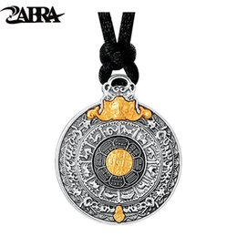 a4dde0ca3 wholesale Real 24k Gold And 999 Sterling Silver Buddhim Pendant Men Women  Good Meaning Gift HipHop Man Vintatge Necklace Jewelry