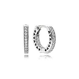 Orecchino reale del diamante della CZ dell'argento sterlina 925 con la borsa originale Misura i monili eterno di Pandora Orecchini dell'orecchino delle donne dell'orecchino della vite prigioniera dell'orecchino delle donne da