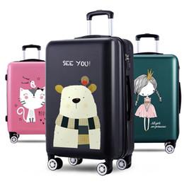 Kinder Roll Gepäck Tasche Koffer Trolley Mit Kosmetische Fall Kinder Geschenk Frauen Schöne Cartoon Reise Box