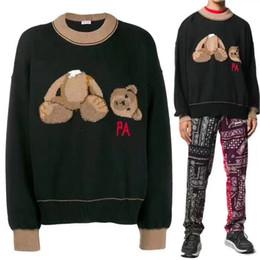 2019 osos bordados Nuevo Palm Angels Sweater de punto Hombres Mujeres 1a: 1 Casual Bear Bear bordado de invierno PA Palm Angels Sweater Pullovers Sweater osos bordados baratos