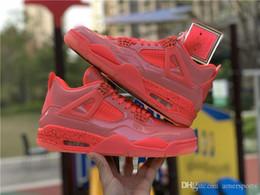 Laços de sapato rosa quente on-line-4 Nova Chegada Sapatos de Basquete 4 4s NRG Hot Punch Mens Sapatilhas Das Mulheres Rosa de Couro de Patente Sapatos de Grife Ao Ar Livre