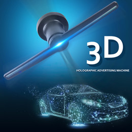 Ha portato il ventilatore pubblicitario online-Proiettore di ologramma 3D plug-in a infrarossi 100-240V Display pubblicitario a LED