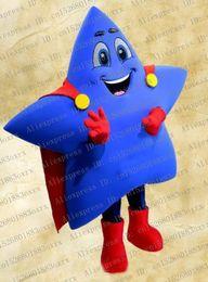 2019 traje estrela mascote Blue Star Traje Da Mascote Adulto Personagem De Desenho Animado Outfit Suit Album Da Pintura Capping Cerimônia zx1340 traje estrela mascote barato