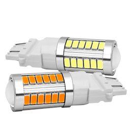 lampe à moteur led Promotion 2pcs T25 3157 P27 / 7W 33 SMD 5630 5730 LED feux arrière de voiture moteur jour feux stop lampe blanche / rouge / jaune / ambre 12V 2X