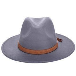 Bordo del cappello di lana online-Cappelli del sole di inverno del sole di inverno delle donne cappello delicato classico degli uomini cappelli larghi del bordo del berretto della protezione del cappello di floppy della protezione del berretto di lana