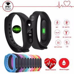 Telefone m2 on-line-Pulseira M2 inteligente bracelete rastreador de fitness assistir com frequência cardíaca monitorar a atividade rastreador saúde pulseira impermeável chamada pedômetro lembrete