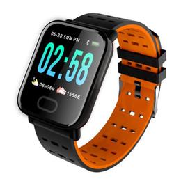 2019 chamadas de resposta de pulseira A6 relógio inteligente Reloj Inteligente Pulsometro Ritmo Cardi de Fitness Rastreador inteligente Pulseira Passometer Relógio de pulso à prova d'água para iPhone Android